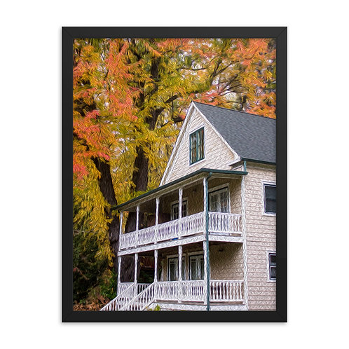 Colonial home - Framed poster