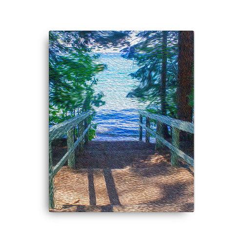 Steep into paradise - Canvas