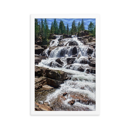 Waterfall - Framed poster