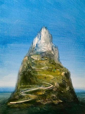 Raasberg 2021 Tempera auf Leinwand 43 x 32 cm