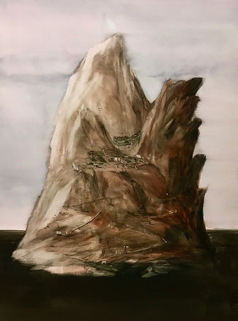 Mars 2019 Temperaauf Leinwand 160 x 120 cm
