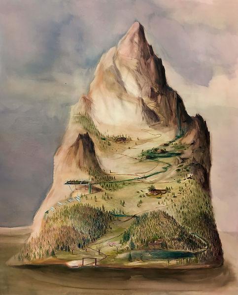 Berg 2019 Öl auf Leinwand 170 x 140 cm