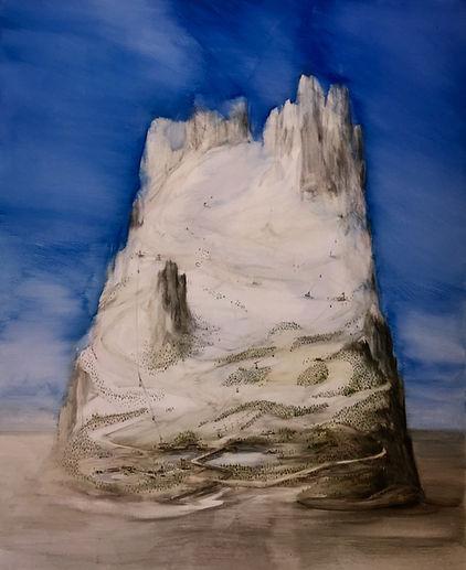 Sellaronda 2019 Temperaauf Leinwand 170 x 140 cm