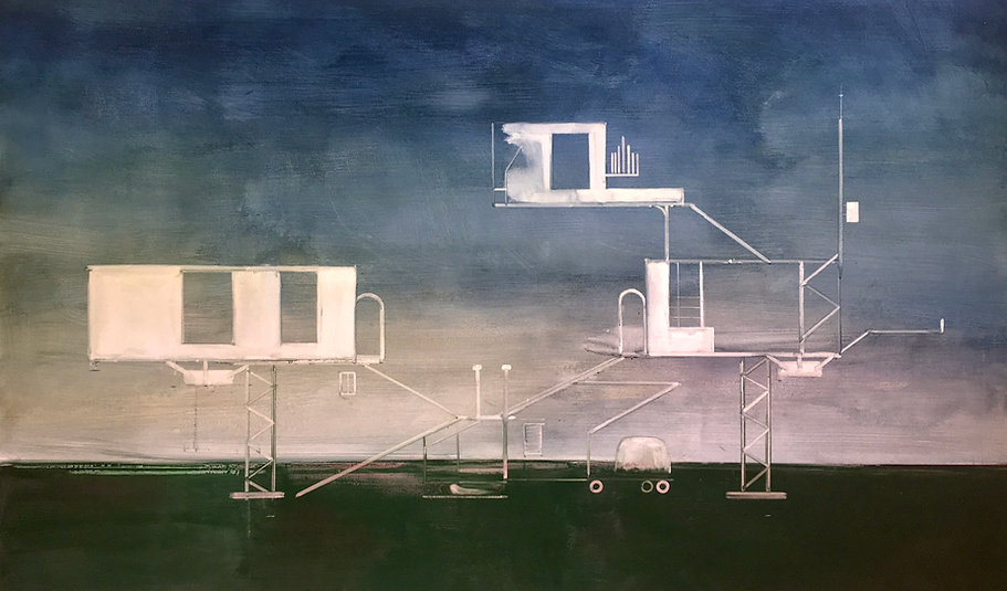Akademie 2020 Tempera auf Leinwand 120 x 200 cm
