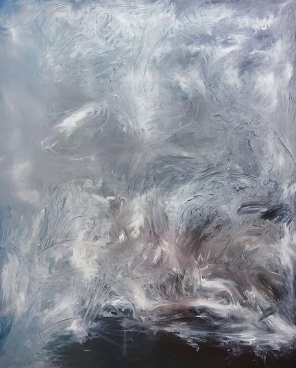 Kyma2018 Öl auf Leinwand 190 x 155 cm