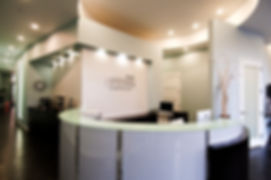 A picture of the front desk at Uptown Dentistry.