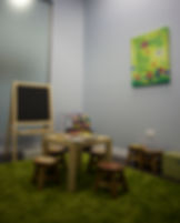 The kids play room of Uptown Dentistry.