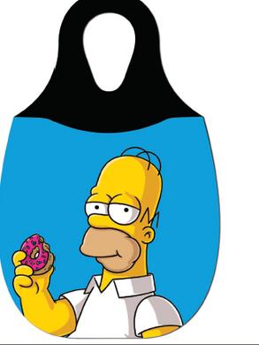 Reliza Lixeira de Carro em Neoprene Personalizada - Homer Simpson Comendo Rosca