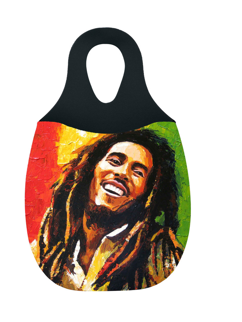 Reliza Lixeira de Carro em Neoprene Personalizada - Bob Marley