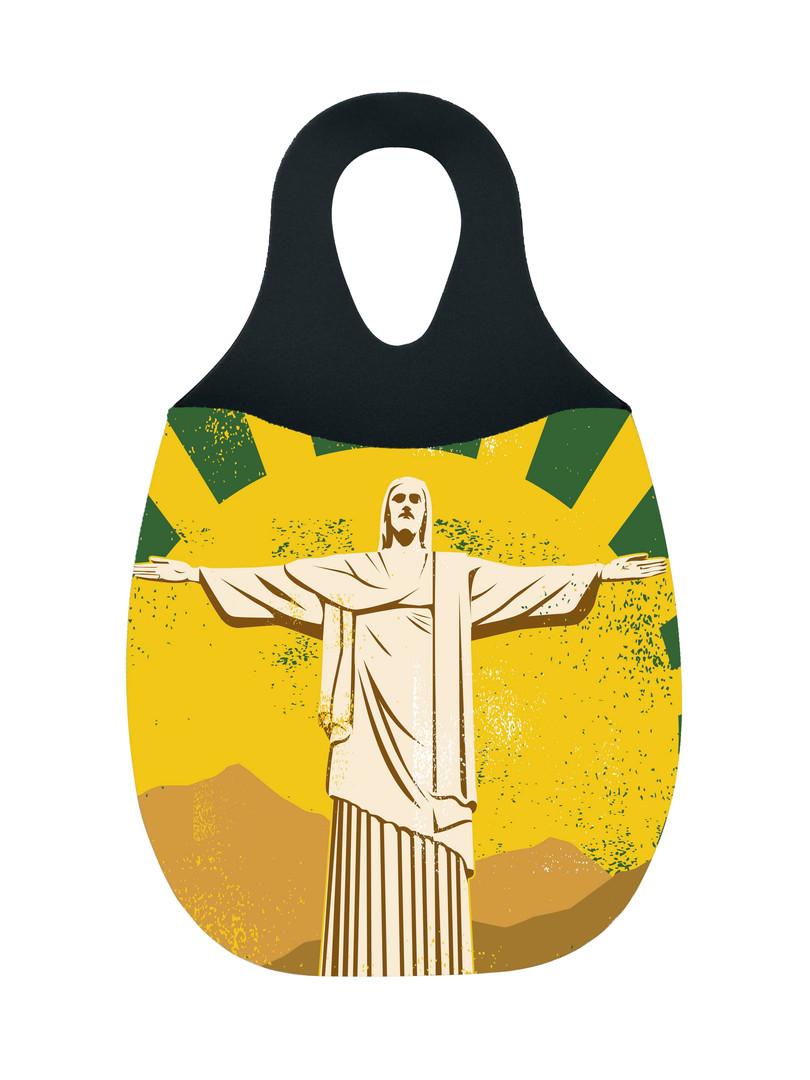 Reliza Lixeira de Carro em Neoprene Personalizada - Cristo Redentor