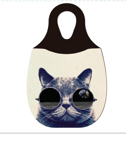 Reliza Lixeira de Carro em Neoprene Personalizada - Gato com Oculos