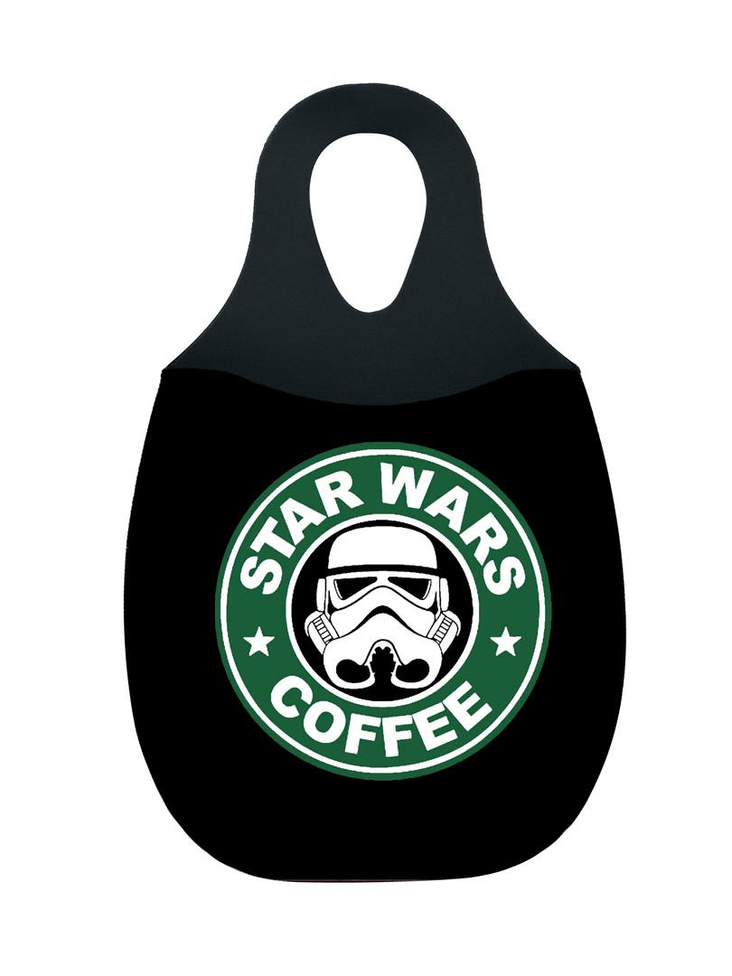 Reliza Lixeira de Carro em Neoprene Personalizada - Star Wars COFFEE