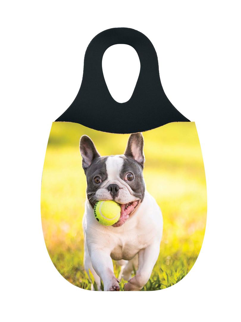 Reliza Lixeira de Carro em Neoprene Personalizada - Cachorro Pegando Bola de Tenis
