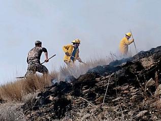 Valley Fire knocks down hillside fire