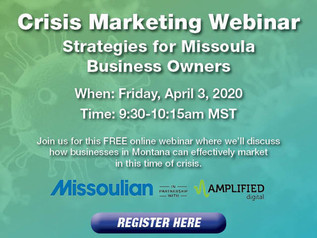 Missoulian offering free Crisis Marketing webinar to help businesses