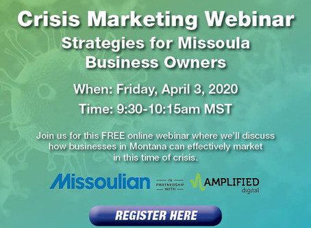 Missoulian offering free Crisis Marketing webinar to help businesses