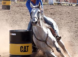 55th Annual Helmville Rodeo: Barrel Racing