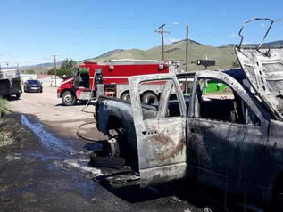 VFD, Sheriff respond to vehicle Fire in Drummond