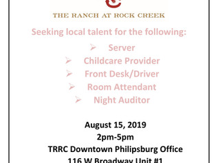 Ranch at Rock Creek opening positions for locals