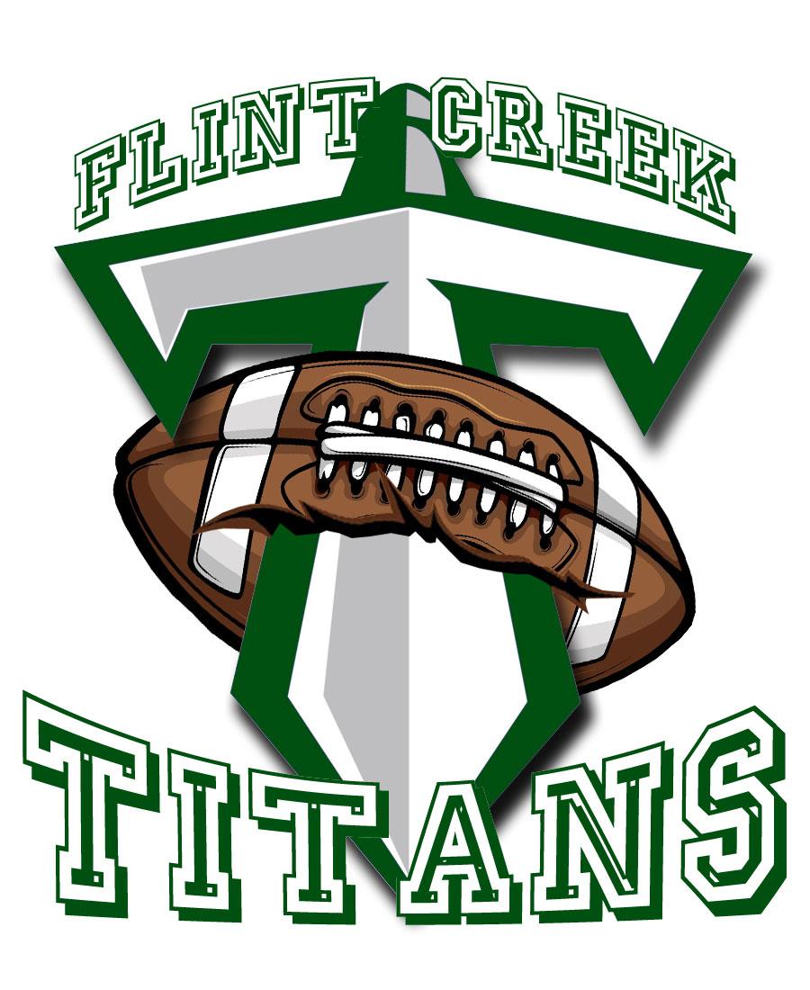 Flint Creek Titans logo on shirts available at Drummond.