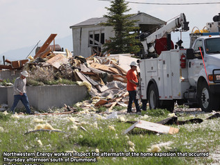 Home explodes near Drummond Airport