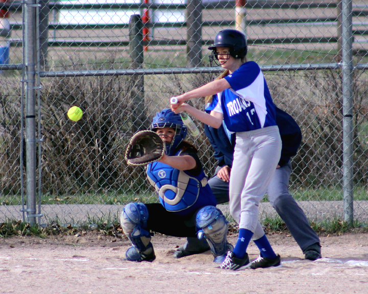 Ashley Picton take a swing at a pitch in play previously this season. (file photo)