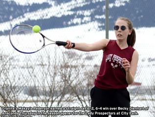 Granite opens tennis season with match against Anaconda