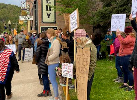 Protestors gather in Philipsburg in support of Black Lives Matter movement