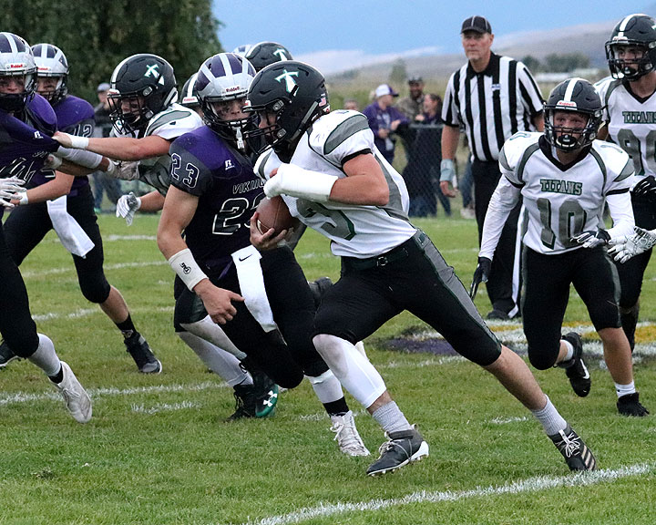 Titan QB Kade Cutler (3) rushed for 201 yards and three TDs Friday night in Charlo.