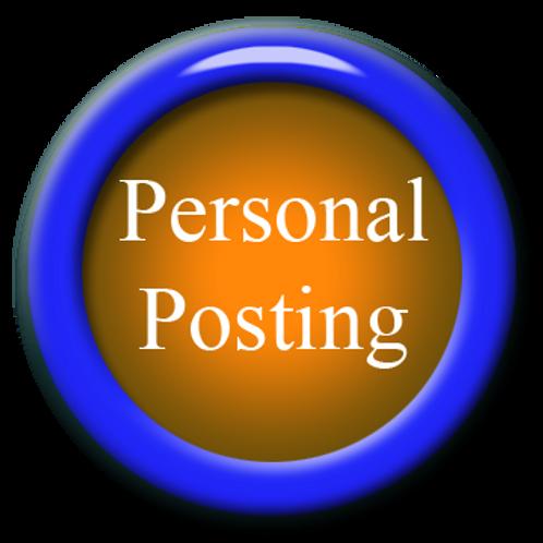 Personal Posting