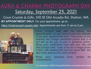 Aura & Chakra Photograph Day at the Cove Crystals & Gifts