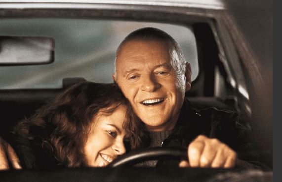 Anthony Hopkins and Nicole Kidman from the film version of The Human Stain