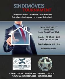 Dia 1/9 tem Torneio de Poker - Exclusivo para Corretores de Imóveis
