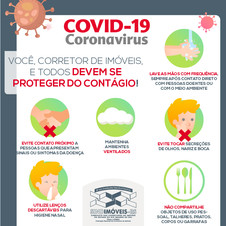 Comunicado: Corretor, proteja-se do Covid-19!