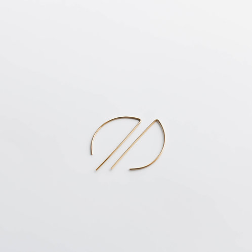 Half moon minimalistic earrings