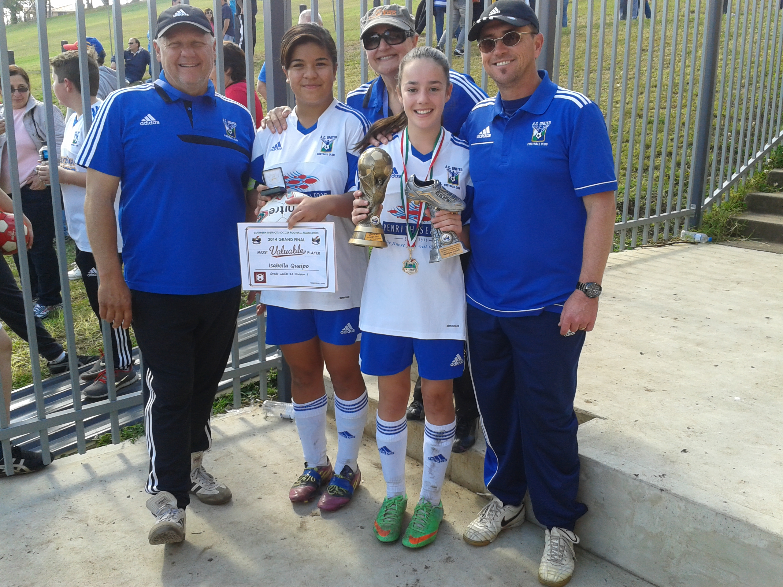 U14 Girls Player of the year and G/F