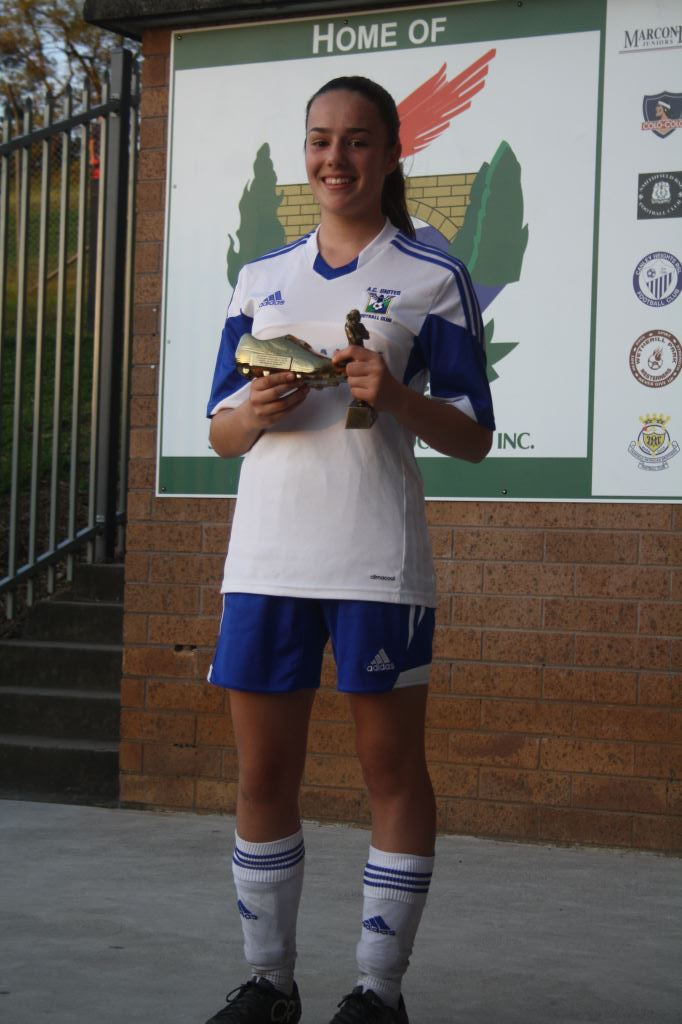 U14 Div 1 Girls Golden Boot ad MVP
