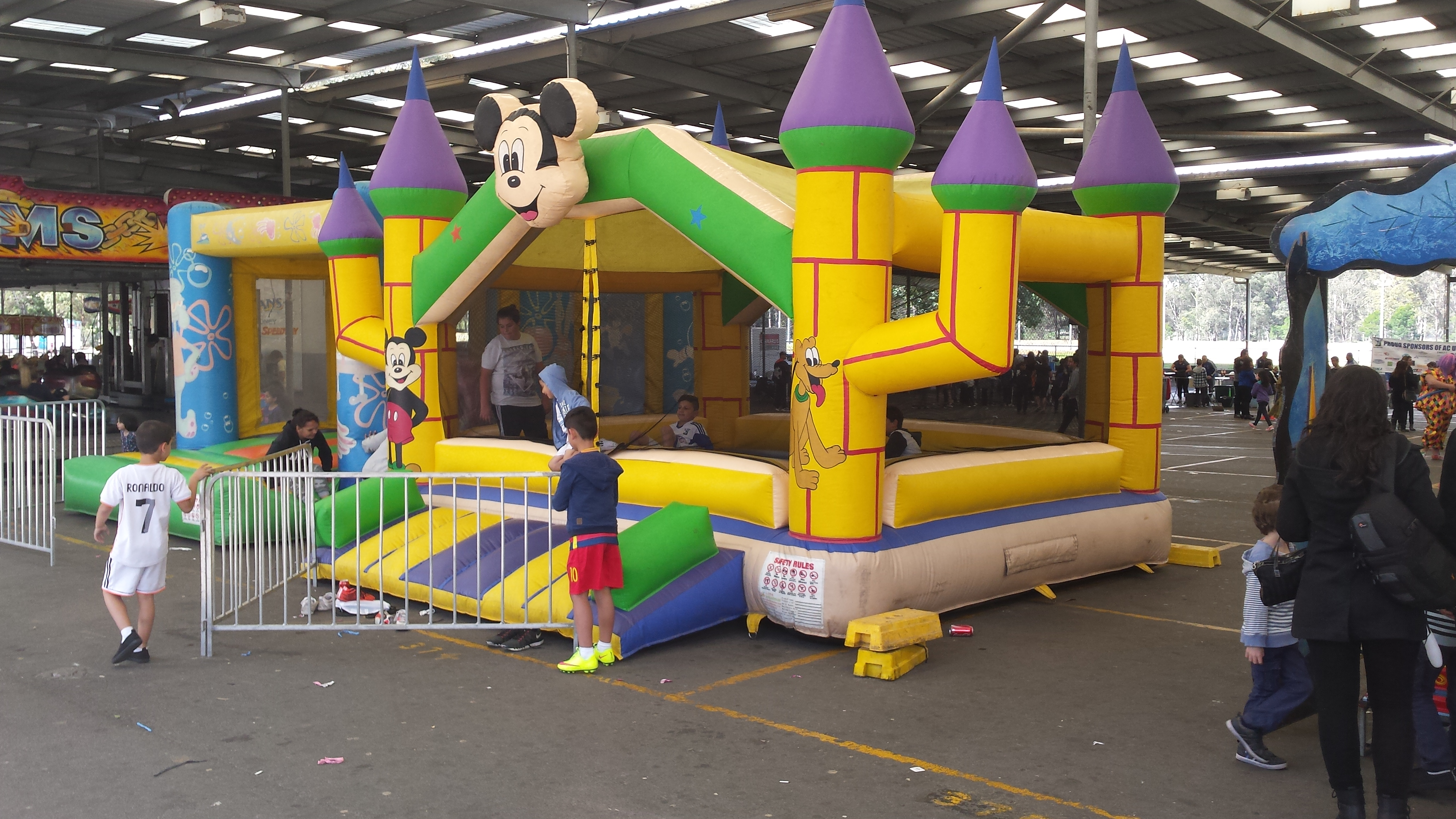 The little jumping castle