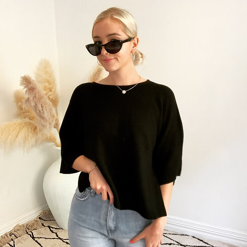 Cropped Ribbed Knit