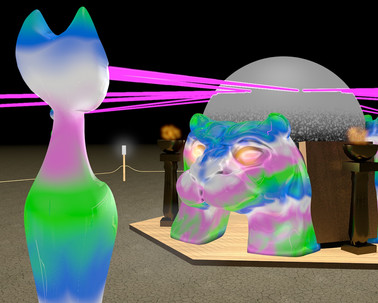 Catolith beaming lasers at Pussiopolis