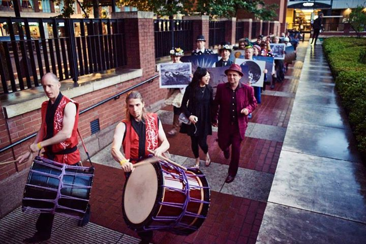 Taiko Drummers, David Normal and Coco, Moving Europe - The Procession