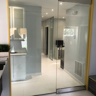 glass doors and panel