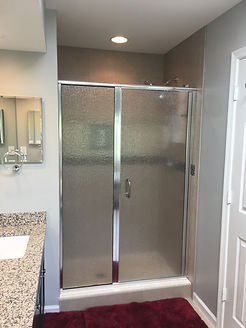 Custom Rain Glass Shower Door, Rain Glass Shower, Semi-Frameless Shower Door, Custom Mirror