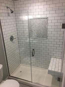 Framless shower door - Maryland, DC, Custom Shower Enclosure