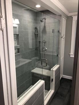 Frameless shower, Shower door, Clear shower door, Glass door, custom shower, 1/2 glass, 3/8 glass