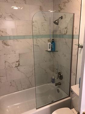 shower splash gaurd, Splash gaurd panel, Framless shower with rounded corner