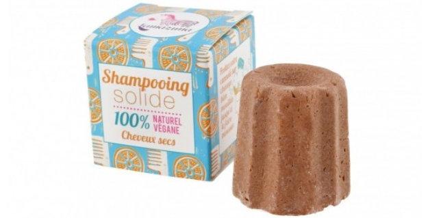 Szampon w kostce, POMARAŃCZA, naturalny, do włosów suchych, 55g, Lamazuna