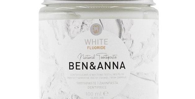 Naturalna wybielająca pasta do zębów z fluorem,100 ml, BEN&ANNA