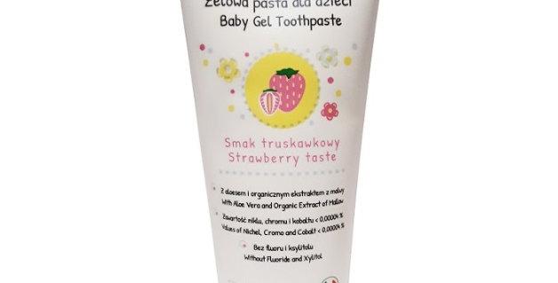 Pasta do zębów dla dzieci, BEZ FLUORU, truskawkowa, 75 ml, Baby Anthyllis