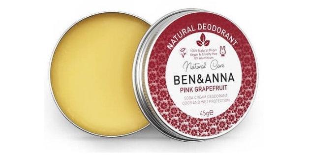 Naturalny dezodorant na bazie sody, PINK GRAPEFRUIT, 45 g, 45 g, BEN&ANNA